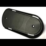 kunststof voetschaal, zwart, 329X158/125X15/50mm, per stuk