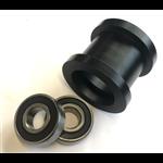 geleidewiel, zwart kunststof, gelagerd voor as 20mm