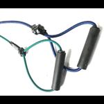 vervangingset elastische koorden: 1x groen / 1x blauw